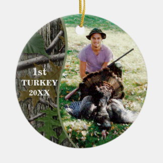 Hunter Woodland Camo Hunting Photo Christmas Ornament