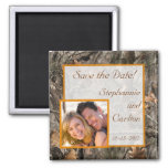 Hunter's Camo Chic Wedding Announcement Magnet