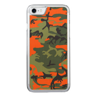 Hunters Camouflage Pattern Carved iPhone 8/7 Case