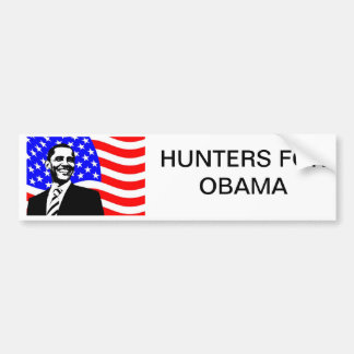 HUNTERS FOR OBAMA BUMPER STICKER