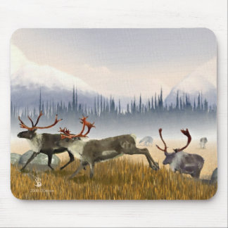 Hunters In The Mist (Caribou) Mouse Mat