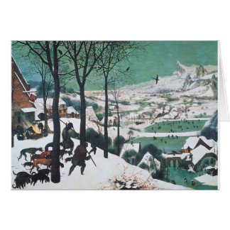Hunters in the Snow by Bruegel Greeting Card