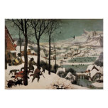 Hunters in the Snow by Pieter Bruegel Poster