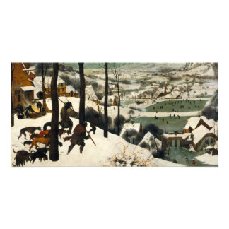 Hunters in the Snow by Pieter Bruegel the Elder Photo Greeting Card