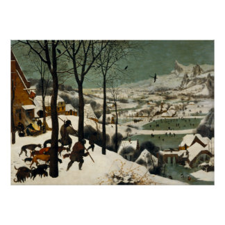 Hunters in the Snow by Pieter Bruegel the Elder Poster
