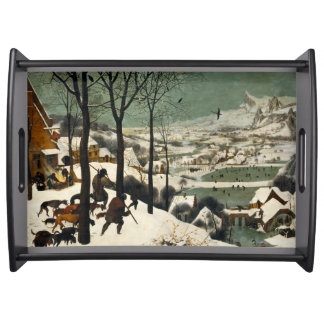Hunters in the Snow by Pieter Bruegel the Elder Serving Tray