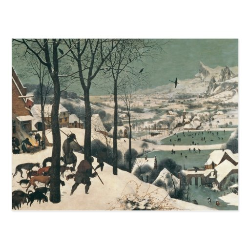 Hunters in the Snow - january, 1565 Post Card