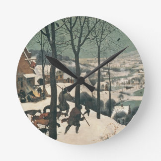 Hunters in the Snow - January, 1565 Wall Clock