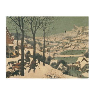 Hunters in the Snow - January, 1565 Wood Wall Art