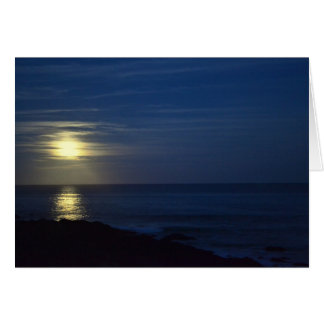 Hunter's Moon - Blank Greeting Card