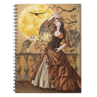 Hunter's Moon - Moonlight Masquerade Owl Fairy Notebooks