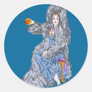 Hunter's Moon Round Sticker