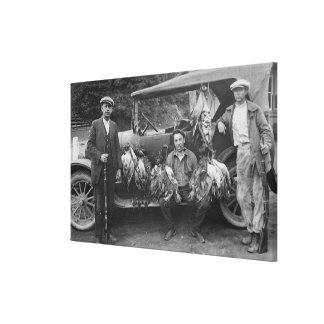 Hunters Posing with Game at RJ Finneys Club Stretched Canvas Prints