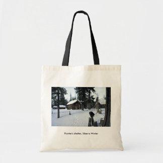Hunter's shelter, Siberia Winter Tote Bag