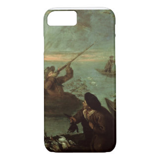 Hunters Shooting at Ducks (oil on canvas) iPhone 8/7 Case