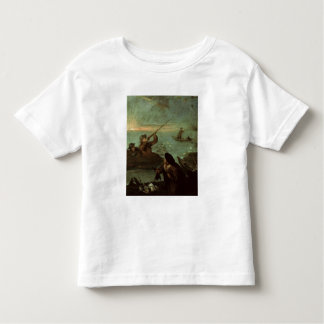 Hunters Shooting at Ducks (oil on canvas) Tee Shirt