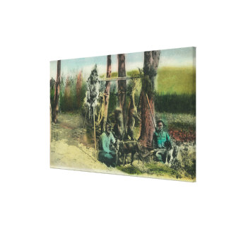 Hunters Showing the Day's WorkLake County, CA Canvas Print