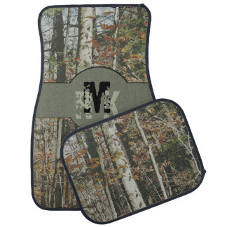 Hunter's Woodland Camo with Monograms Car Mat