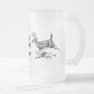 Hunting A Family Tradition Frosted Glass Beer Mug