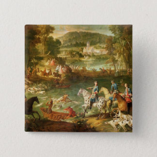 Hunting at the Saint-Jean Pond in the Forest 15 Cm Square Badge