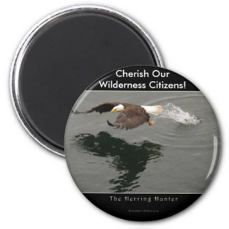 Hunting Bald Eagle Gift Item 6 Cm Round Magnet