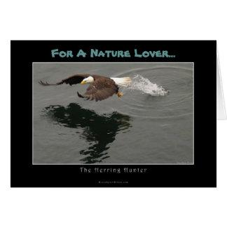 Hunting Bald Eagle Gift Item Card
