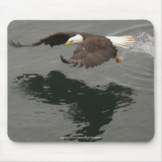 Hunting Bald Eagle Mousepad