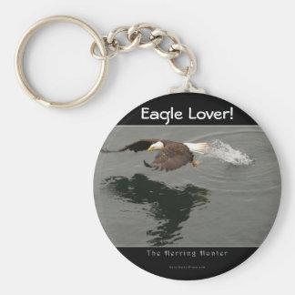 Hunting Bald Eagle Wildlife Keychain