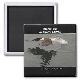 Hunting Bald Eagle Wildlife Supporter Gift Magnet
