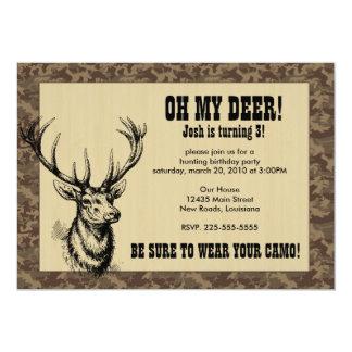Hunting Birthday 13 Cm X 18 Cm Invitation Card