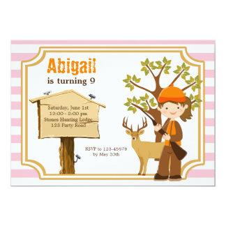 Hunting Birthday Invitation for Girls