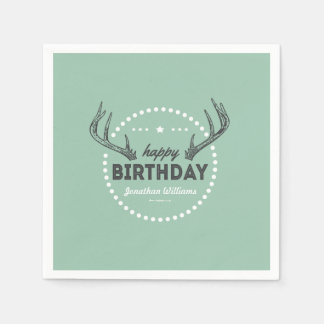 Hunting Birthday Postage for Lil' Hunters Napkin Disposable Napkin