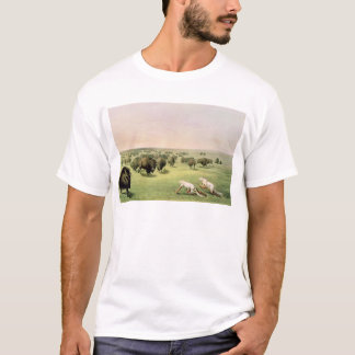 Hunting Buffalo Camouflaged T-Shirt