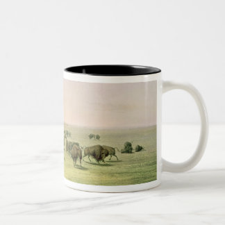 Hunting Buffalo Camouflaged Two-Tone Coffee Mug