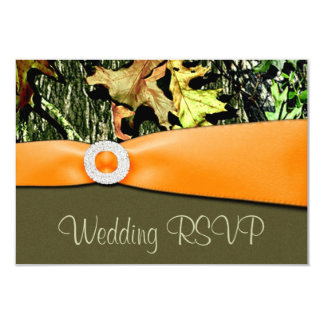 Hunting Camo RSVP Wedding Cards