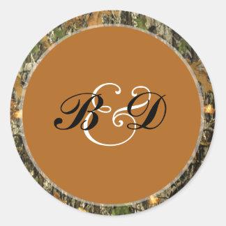 Hunting Camo Wedding Stickers