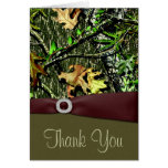 Hunting Camo Wedding Thank You Cards