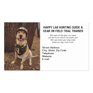 Hunting/Camping Guide & Gear/Field Trial Trainer Pack Of Standard Business Cards