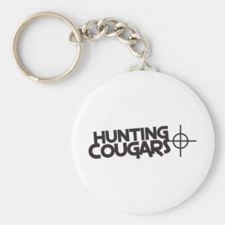 hunting cougars with bullseye and target basic round button key ring