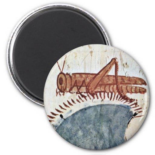 Hunting Details: Locust By Maler Der Grabkammer De Refrigerator Magnets