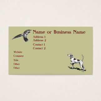 Hunting Dog and Pheasant Business Card Version 2