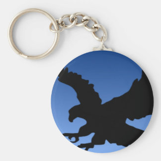Hunting Eagle on Blue Key Chains