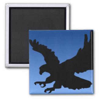Hunting Eagle on Blue Refrigerator Magnet