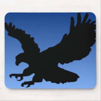 Hunting Eagle on Blue Mouse Pad