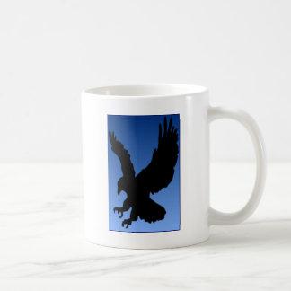Hunting Eagle on Blue Coffee Mugs