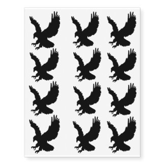 Hunting Eagle Temporary Tattoos