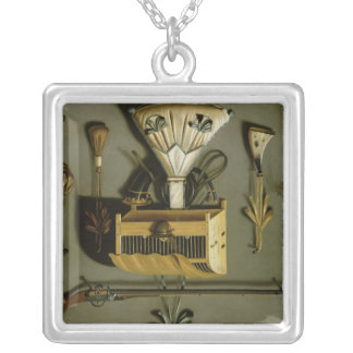 Hunting Equipment Silver Plated Necklace