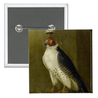 Hunting Falcon - 17th century 15 Cm Square Badge
