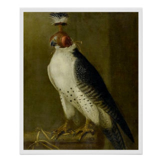 Hunting Falcon - 17th century Poster