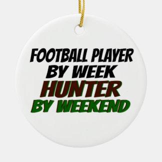 Hunting Football Player Christmas Ornament